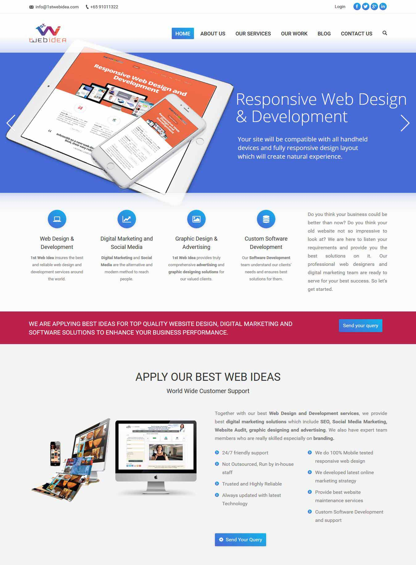 your name - Web Design Project Ideas